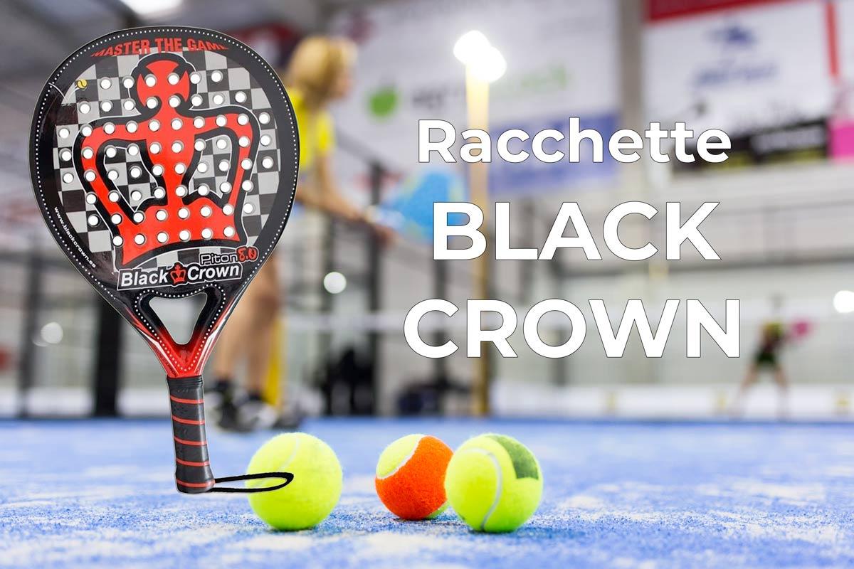 racchette padel black crown